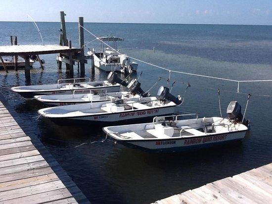 Rainbow Bend Fishing Resort: Bateau