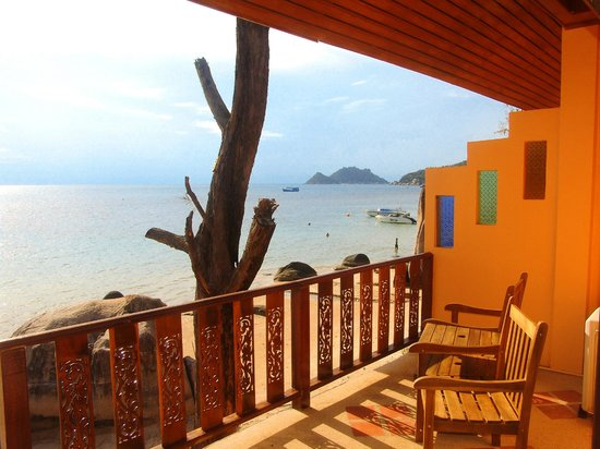 Goodtime Beach Hostel: Enjoy the stunning view from our Delux sea view rooms