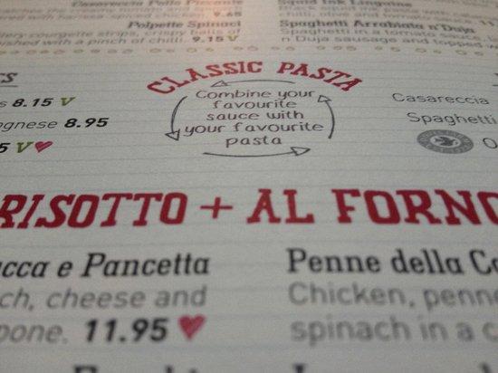 Zizzi - Notting Hill Gate: Il menu