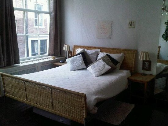 Amsterdam At Home: The bedroom which is upstairs - there is also a pull out single bed underneath it