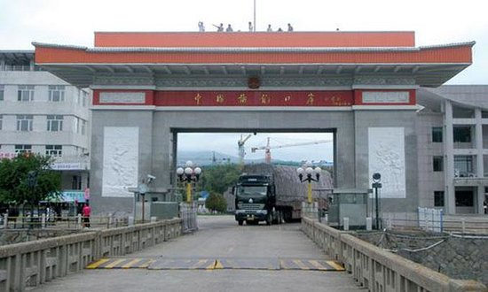 China and North Korea Tumen Port