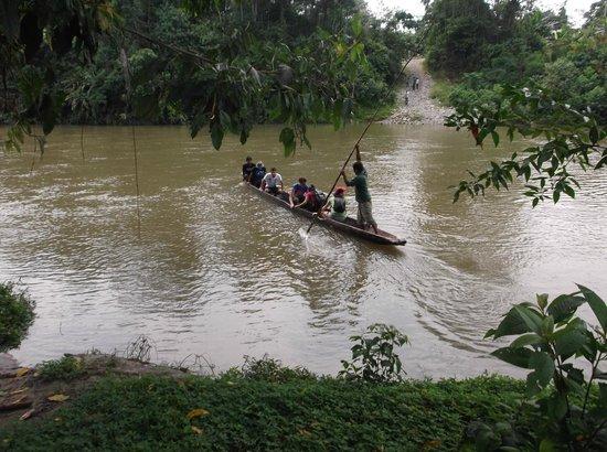 Suchipakari Amazon Rainforest Ecolodge: CROSSING DOWN FROM LODGE