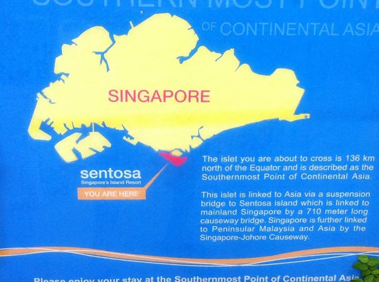singapore position map - Picture of Palawan Beach, Sentosa Island ...