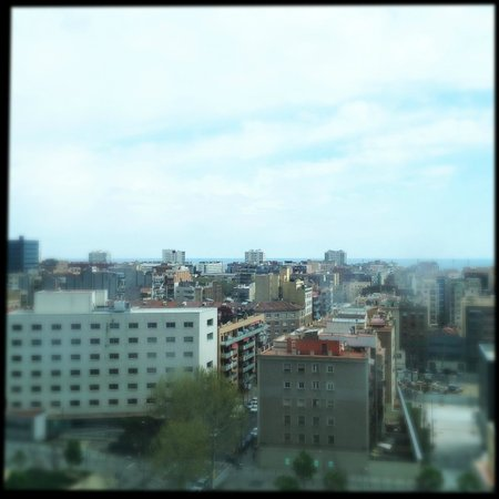 Melia Barcelona Sky: View from the 10th floor, sea side