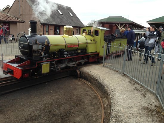 Ravenglass and Eskdale Railway: Steam Engine outside the Ratty Arms