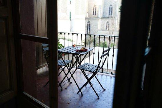 B&B Quadrat d'Or: Balcony/terrace of the Gaudi room.