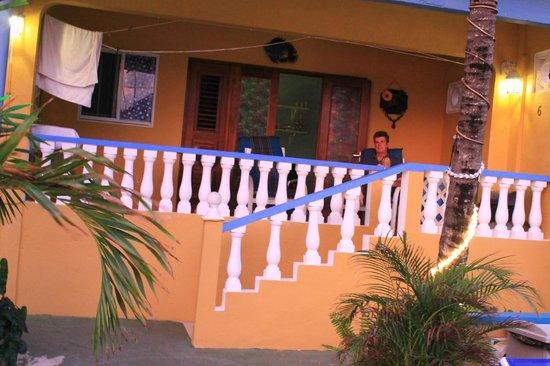 Limestone Holiday Resort: The veranda of our room