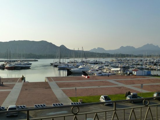 Hotel del Porto: View of the marina and the anchorage from the balcony