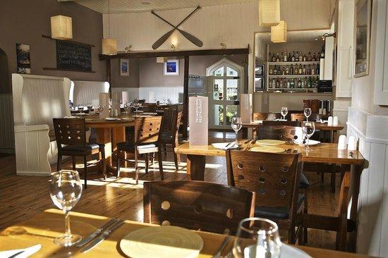 The Laughing Monk Restaurant: restaurant (old school room)