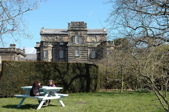 Seaton Delaval Hall: Looking East from the picnic area.