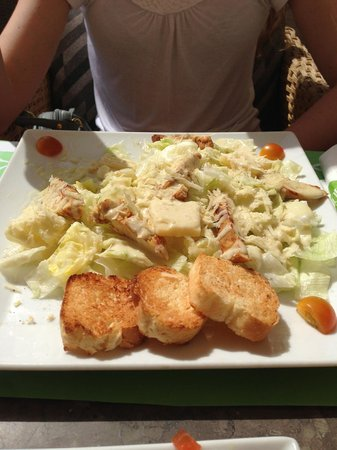 Onions : Chicken Caesar Salad - about £4.50
