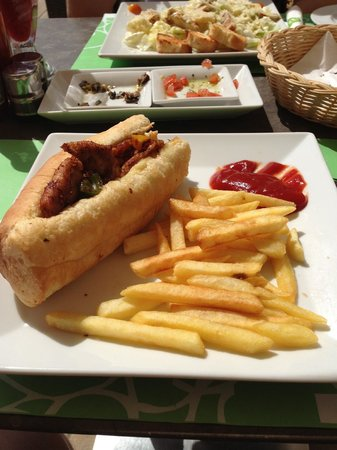 Onions : Chicken Shish Sandwich - about £4 with a drink!