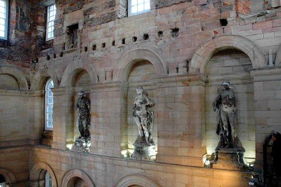 Seaton Delaval Hall: Inside the main hall.