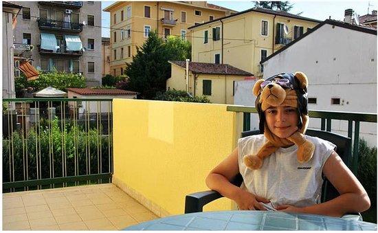 Residence Viale Venezia: My little son in the balcony