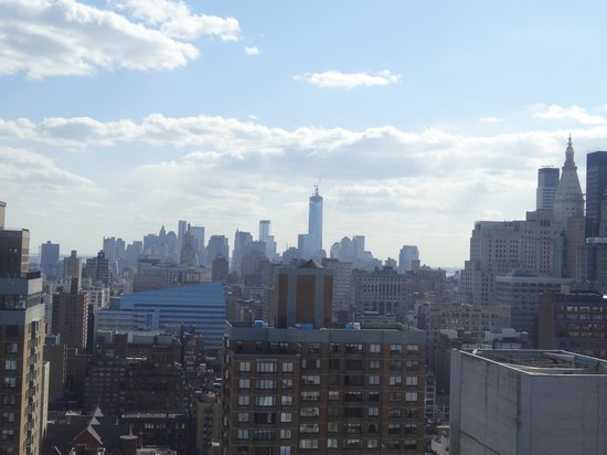 Dumont NYC–an Affinia hotel: our view from our 34th floor corner room