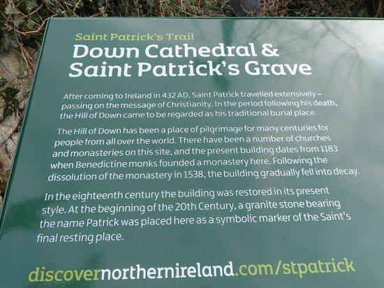 The Saint Patrick Centre: Saint Patrick's grave