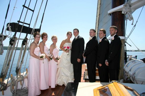 Schooner Manitou: Manitou is perfect for your wedding ceremony or rehearsal dinner!