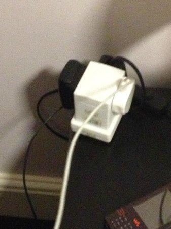 The Orchard Hotel Gloucester: socket on side table