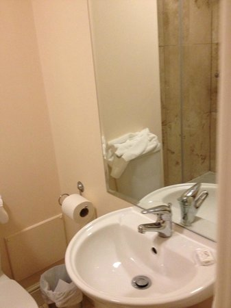 The Orchard Hotel Gloucester: sink and toilet roll holder
