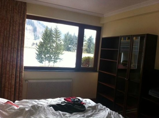 Sporthotel Royer: the room is facing the magnificent ski slopes