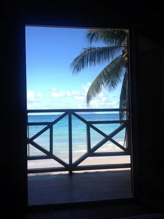 Clef des Iles: View from the bed