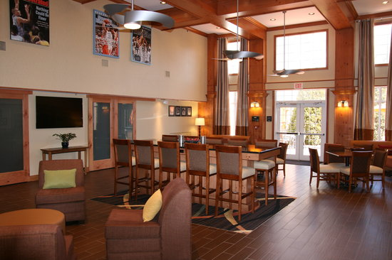 """Hampton Inn and Suites Chapel Hill / Durham Area: Enjoy our 60"""" HDTV in the lobby"""