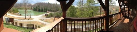 Cliffview Resort: panorama from room 101
