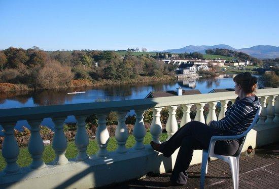 Riverside House: enjoying a relaxing break on the balcony