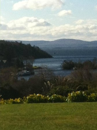 The Lodge at Ashford Castle: View over Lough Corrib from Hotel