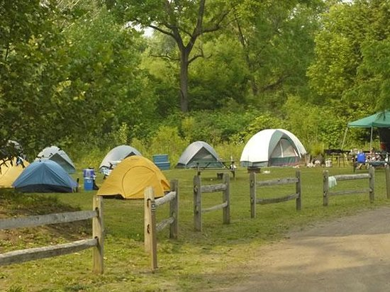 River's Edge Camping & Cabins: Group Tenting Area