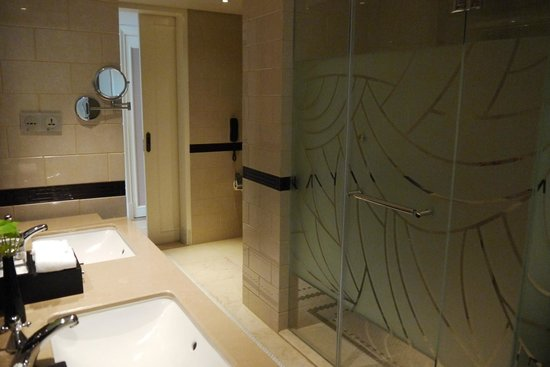 Paramount Gallery Hotel : Toilet with 2 wash basins