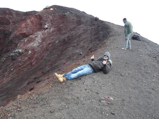 Funivia dell'Etna: ...il meritato riposo...