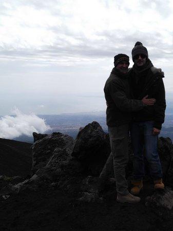 Funivia dell'Etna: ...io e mio figlio...