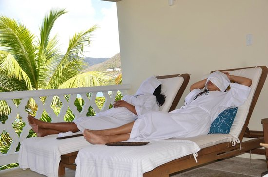 Curtain Bluff Resort: Chilling after Massage