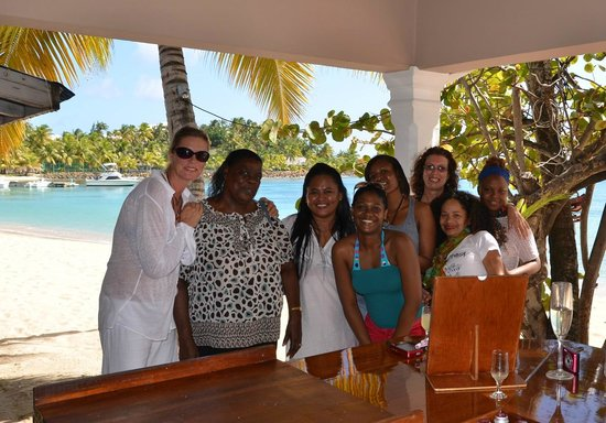 Curtain Bluff Resort: Happy Happy Group after Spa & Lunch