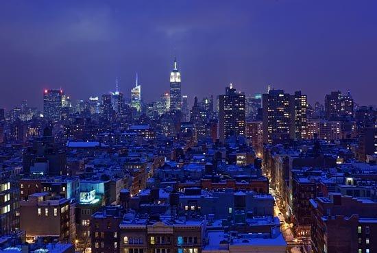 Sheraton Tribeca New York Hotel : Skyline View from Club Terrace