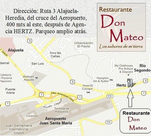 Don Mateo: Ubicacion cerca del Aeropuerto