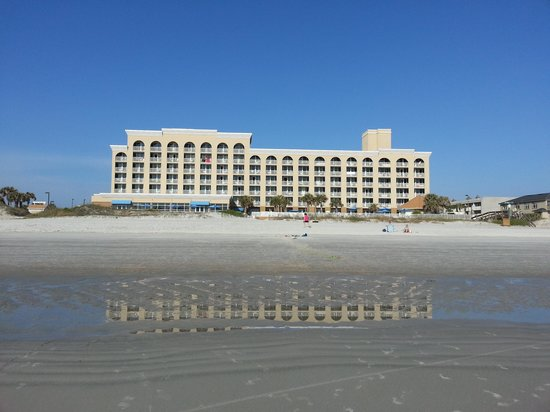 Courtyard by Marriott Jacksonville Beach Oceanfront: View of the hotel from the water
