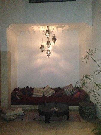 Riad Davia: the lobby