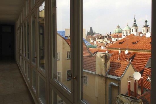 Retezova Apartments: View from the top floor corridor