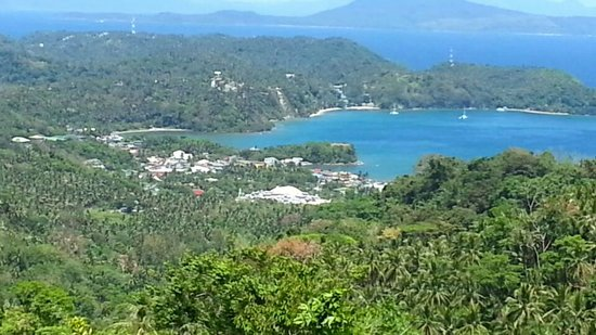 Encenada Beach Resort: شاطئ الفندق من اعلى الجبل