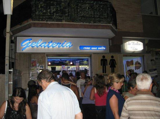 La Dolce Vita : Gelateria across the road