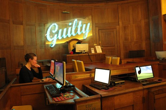 Clink78: Internet Suite in the old courtroom.
