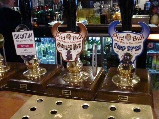 Pied Bull Inn: Beer selection