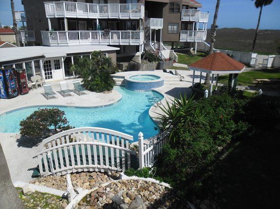 Mustang Island Beach Club: Unit 210 View from deck/MIBC pool
