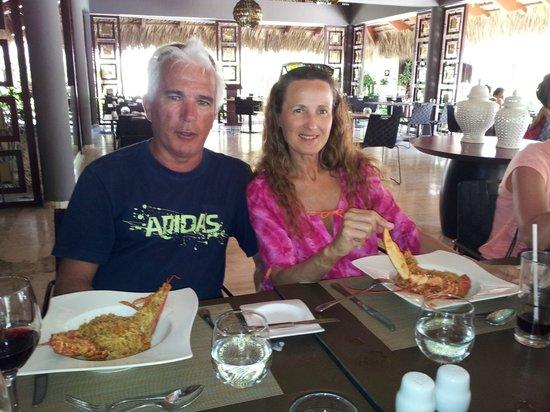 Paradisus Punta Cana: Las comidas de valentin y Jorge