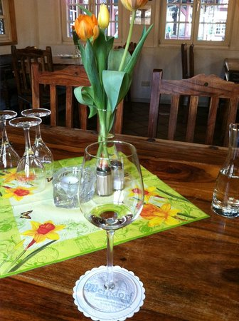 Weindorf Koblenz: Wine and lovely tulips