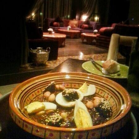 Al Jasra - Souq Waqif Boutique Hotels: lamb prunes tajine at Arjan