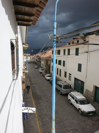 Andenes al Cielo: View down the hill from the balcony.