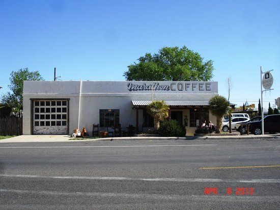Marathon Coffee Shop: Drive West on Hwy 90 from the junction with 385